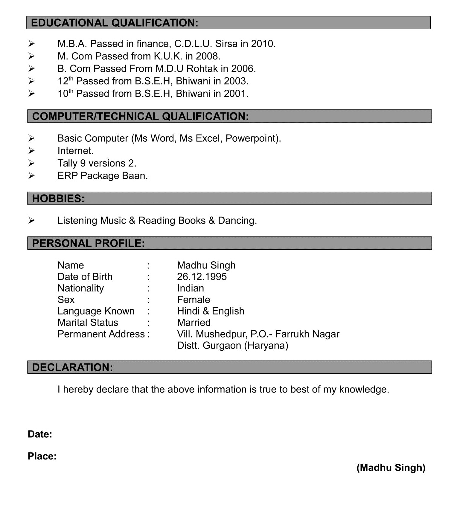 resume formats making format for fresher 12th pass pointers mature workers best paper Resume Resume Format For Fresher 12th Pass