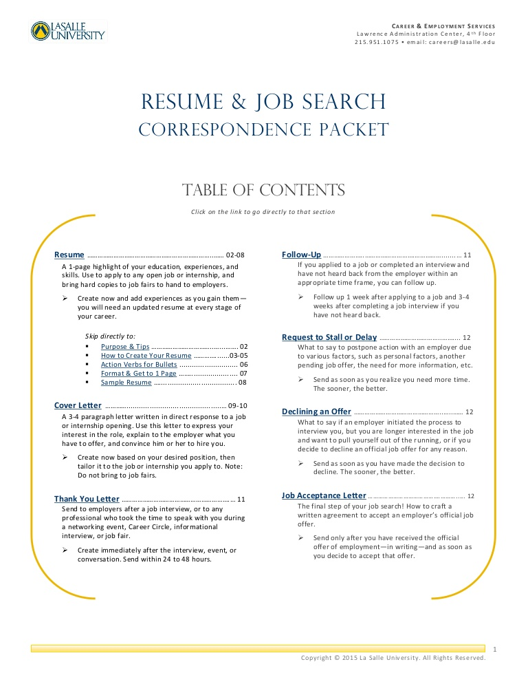 resume job search correspondence packet for seasonal work lva1 app6891 thumbnail Resume Resume For Seasonal Work