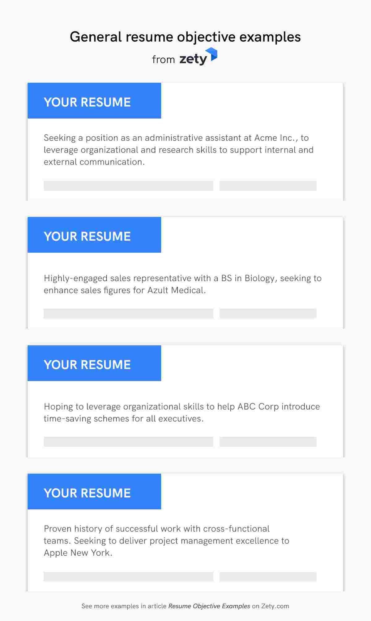 resume objective examples career objectives for all jobs introduction general Resume Resume Introduction Examples