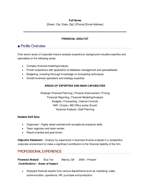 resume sample of finance analyst financial planning and analysis showing promotion on Resume Financial Planning And Analysis Resume