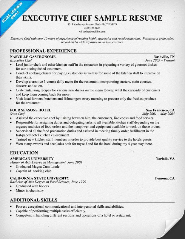 resume samples and to write companion chef cover letter for examples executive job Resume Executive Chef Job Description For Resume