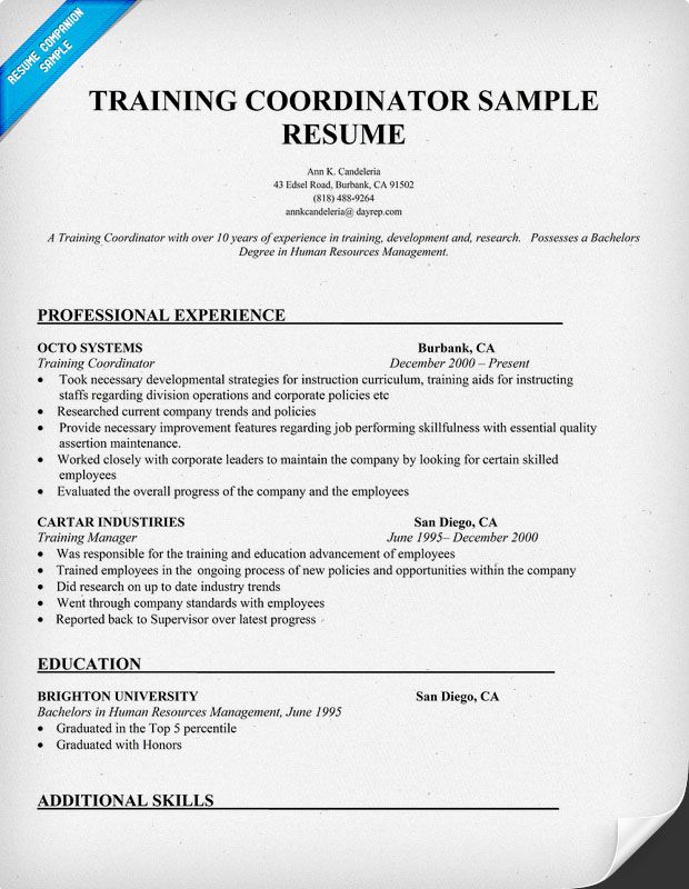 resume samples and to write companion cover letter for student sample additional training Resume Additional Training On Resume