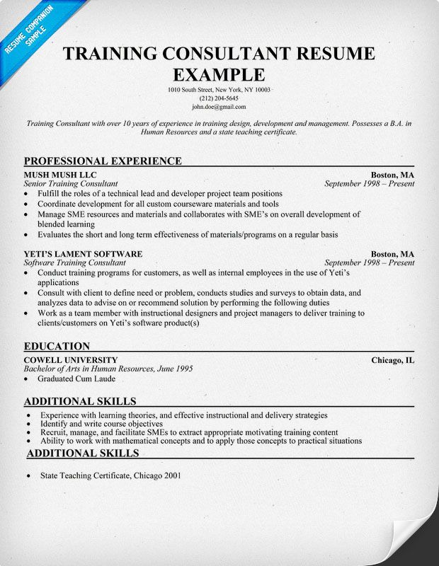 resume samples and to write companion examples job objective additional training on Resume Additional Training On Resume