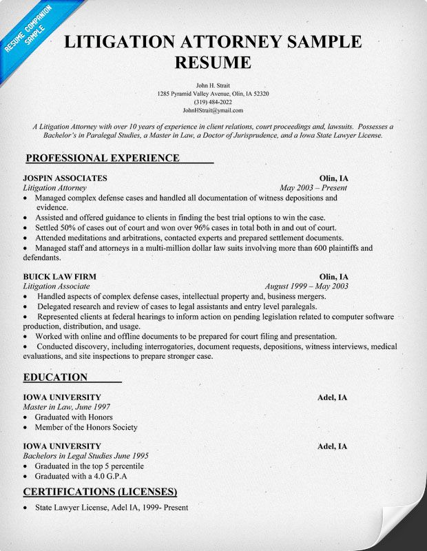 resume samples and to write companion sample examples litigation attorney networking Resume Litigation Attorney Resume Sample