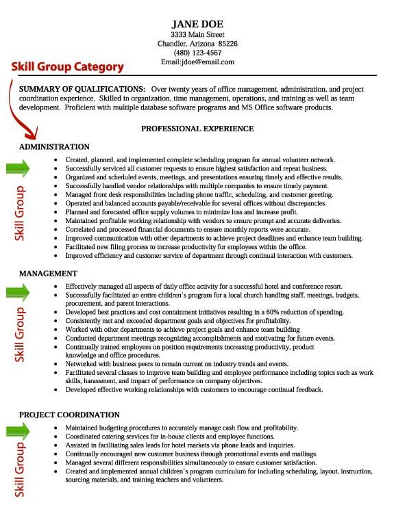 resume skill writing skills section organization and time management admin assistant Resume Organization And Time Management Skills Resume