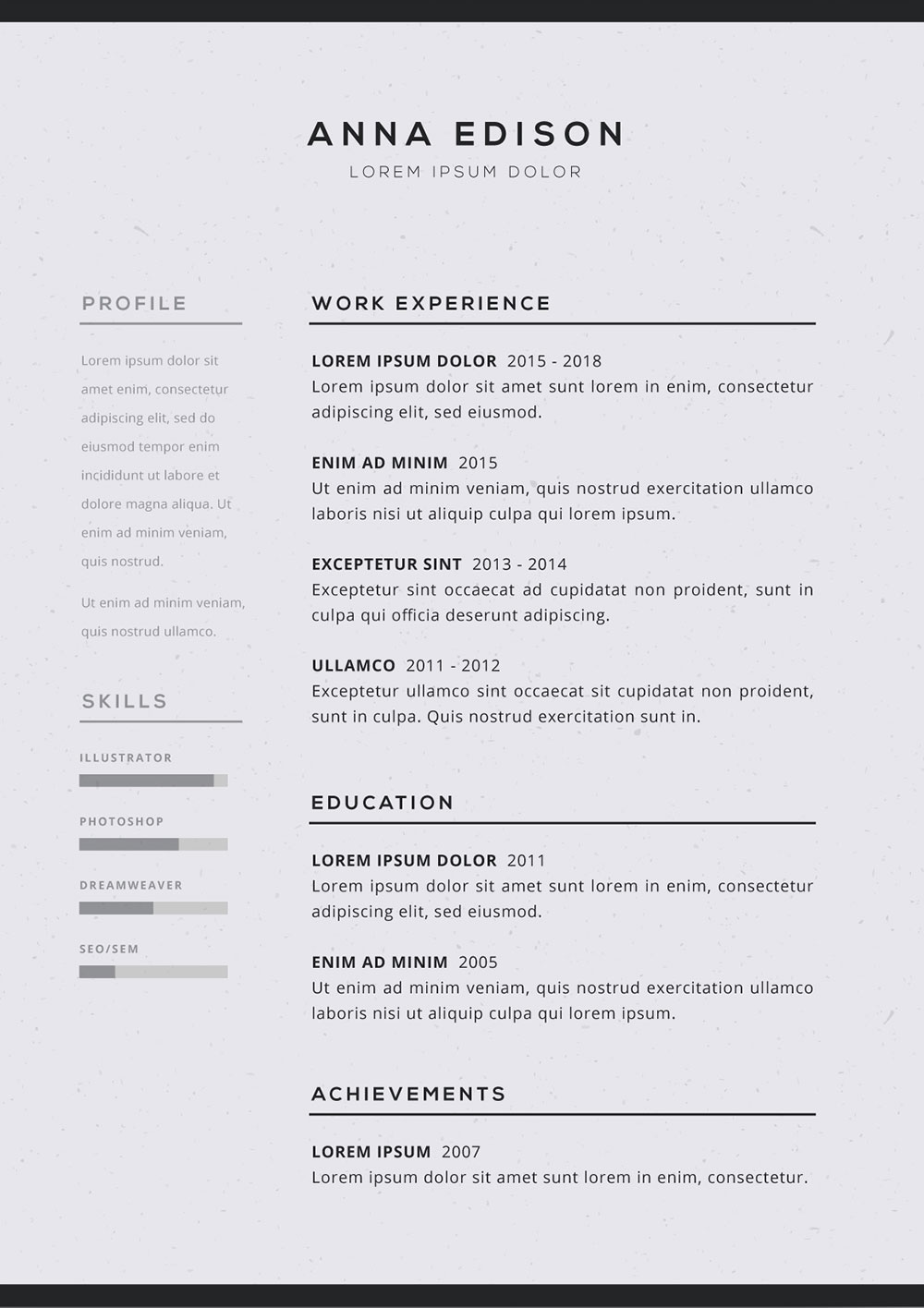 resume staggering free simple templates black curriculum vitae template sample basic Resume Easy Resume Template Free