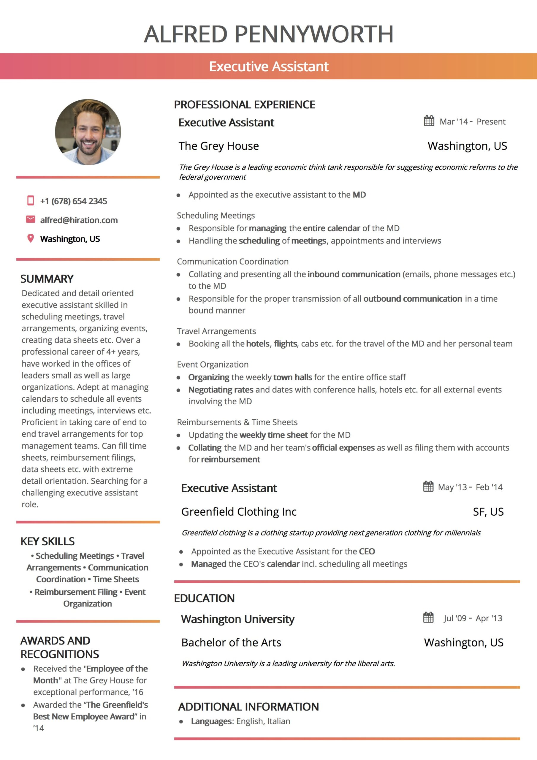 resume template by hiration exceptional templates stagehand some interests for Resume Exceptional Resume Templates