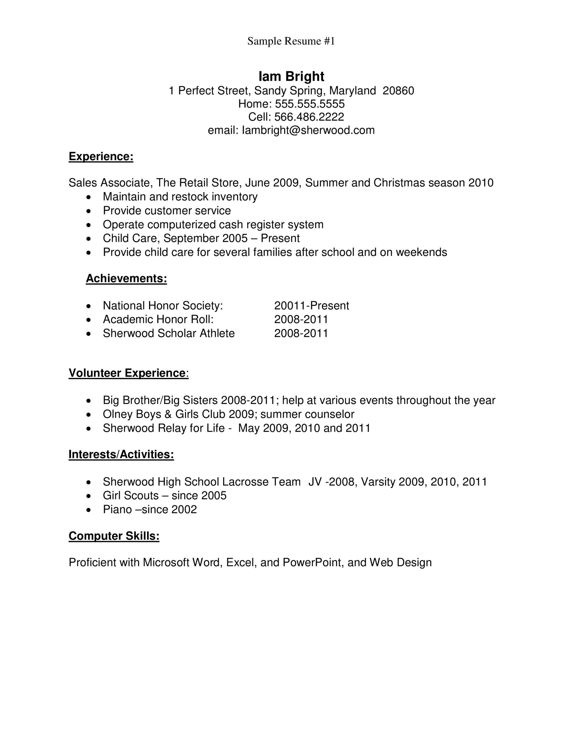 resume template high school students addictionary first job sample fascinating templates Resume First Job High School Resume Sample
