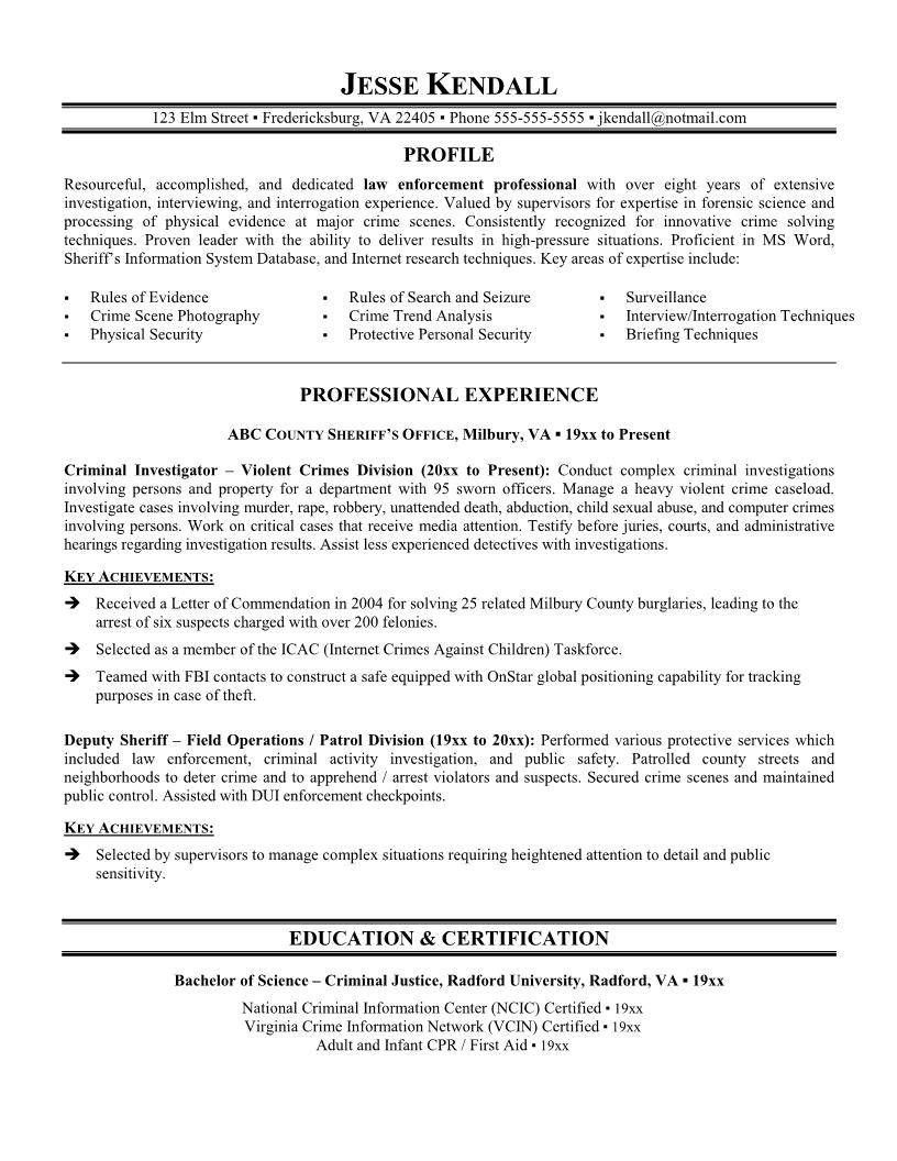 resume templates for maccareer template career police officer cover letter examples Resume Police Resume Writing Services