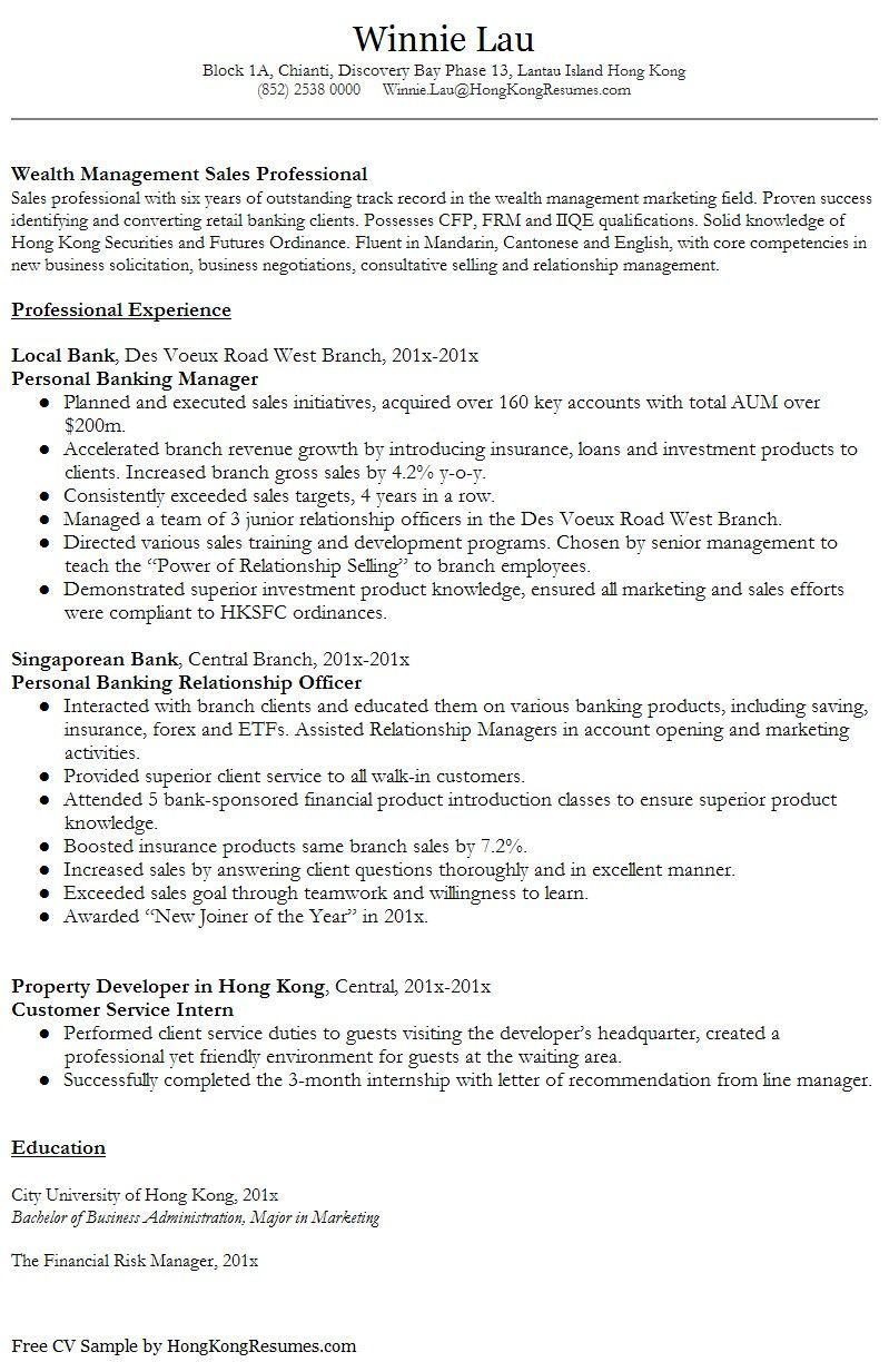 resume templates hong kong example automotive quality control best federal writing Resume Hong Kong Resume Example