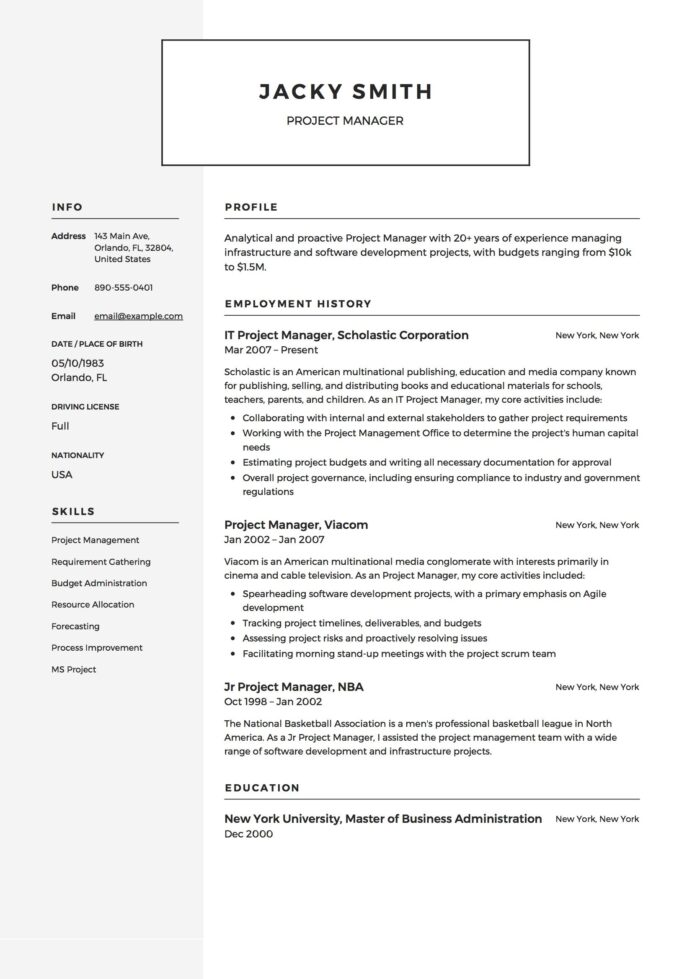 resume templates project manager example in basic examples software development high Resume Software Development Manager Resume Examples 2020