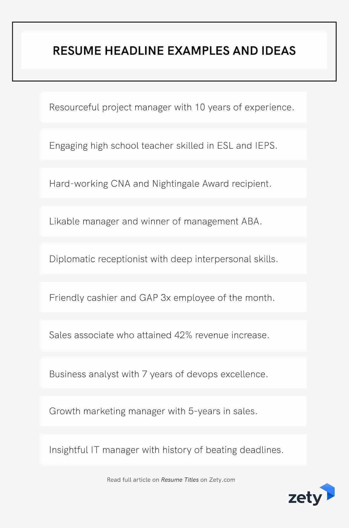 resume title examples good headline for any or summary and ideas entry level computer Resume Headline Or Summary For Resume