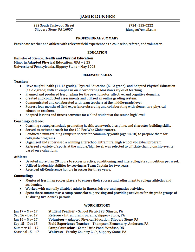resume writing employment history for seasonal work teacher lg marketing executive Resume Resume For Seasonal Work
