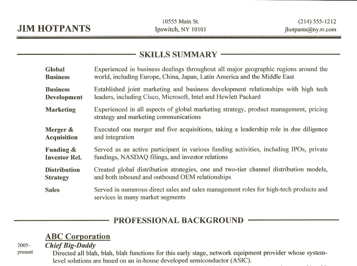 resume writing tip skills summary section daugherty portion of successful examples Resume Skills Portion Of Resume