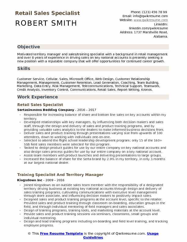 retail specialist resume samples qwikresume sample objectives for management pdf Resume Sample Resume Objectives For Retail Management