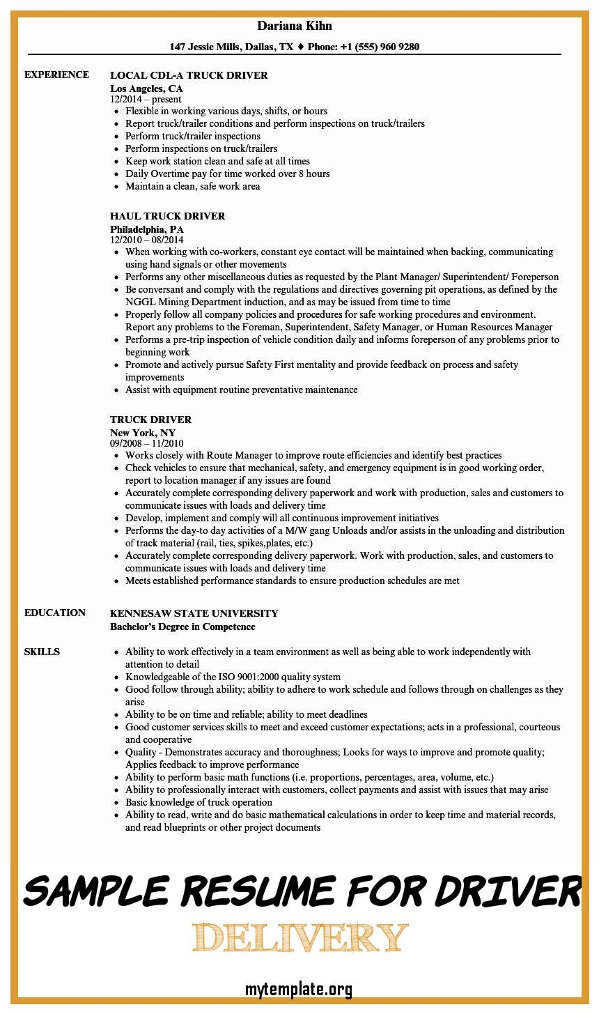 sample resume for driver delivery free templates limousine of pin marketing summary Resume Limousine Driver Resume