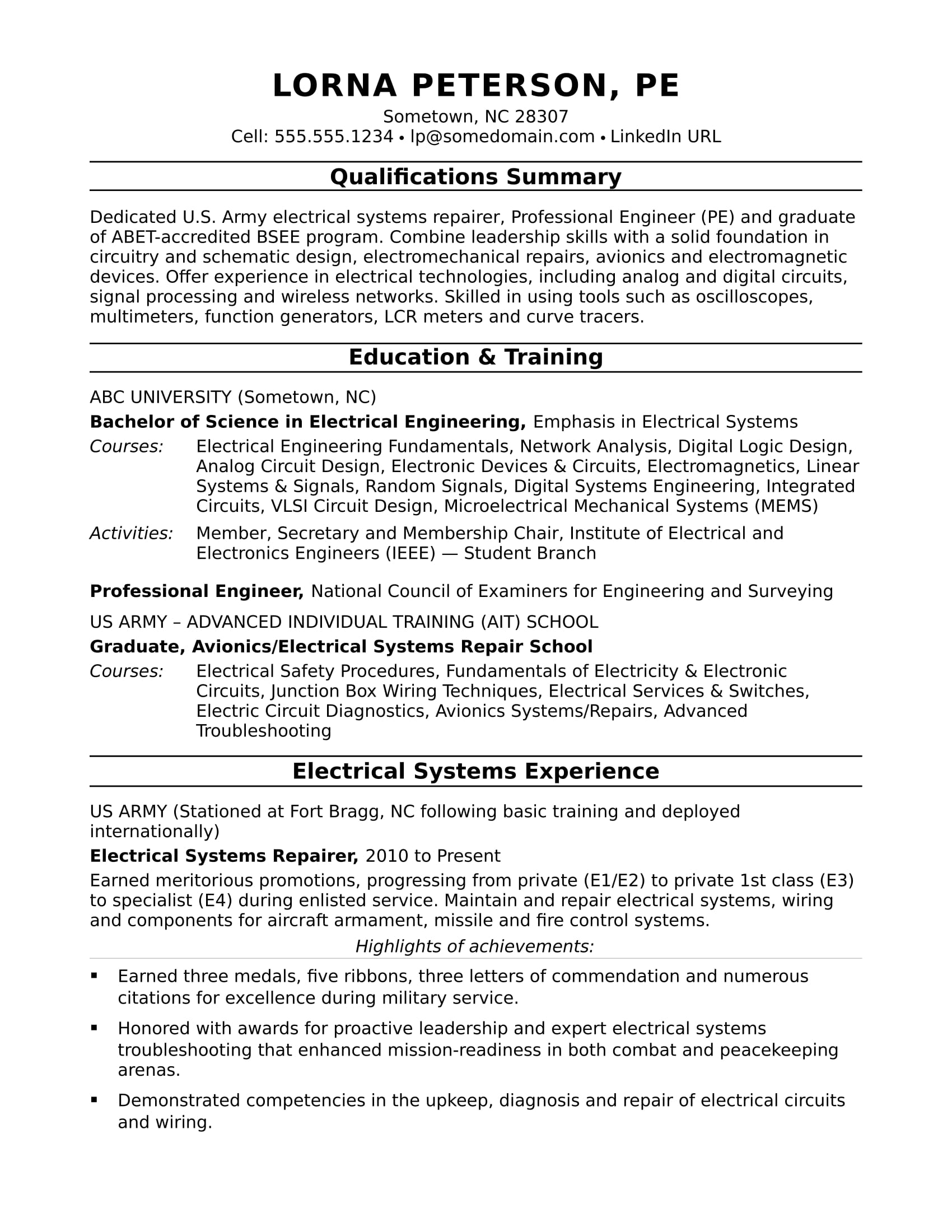 sample resume for midlevel electrical engineer monster professional summary engineering Resume Professional Summary For Engineering Resume