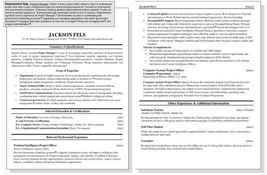 sample resume for worker with an employment gap dummies image0 someone out of high school Resume Employment Resume Sample