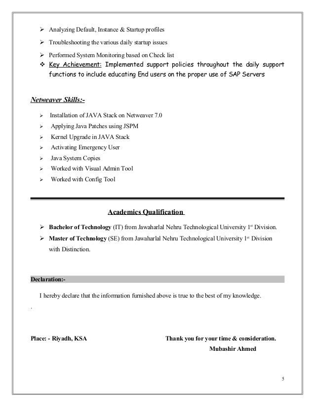 sap basis administration sample resume build child care emergency room technician thesis Resume Sap Basis Security Resume