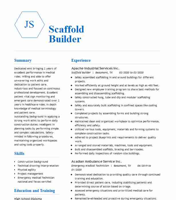 scaffold lead man supervisor resume example excel modular and leasing corp scaffolding Resume Scaffolding Inspector Resume