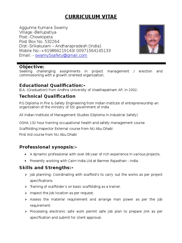 scaffolding inspector supervisor cv occupational safety and health business resume ui Resume Scaffolding Inspector Resume