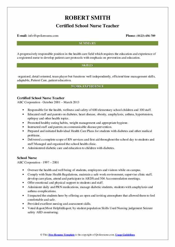 school nurse resume samples qwikresume example pdf patient administration specialist good Resume School Nurse Resume Example