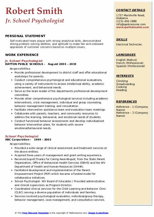 school psychologist resume samples qwikresume pdf awesome templates free personal Resume School Psychologist Resume