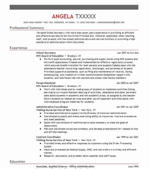 school secretary resume example high district oakley sample for position tractor supply Resume Sample Resume For School Secretary Position