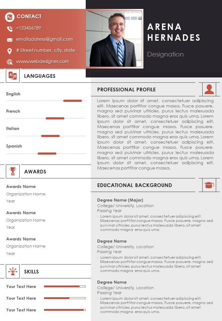 self introduction sample curriculum vitae for job application powerpoint slides diagrams Resume Resume Self Introduction Sample