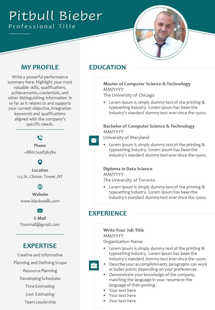self introduction sample cv for job search powerpoint design template presentation Resume Resume Self Introduction Sample