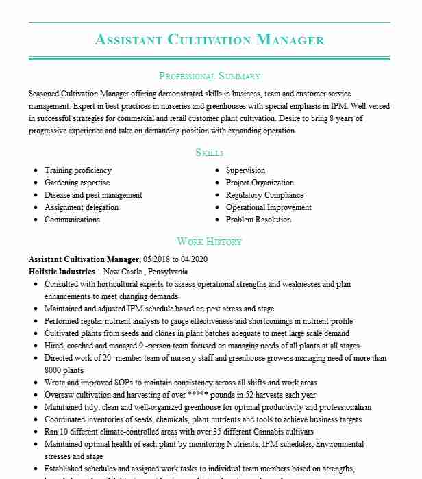 senior cultivation manager resume example swc tempe gilbert dispensary examples canva Resume Dispensary Manager Resume Examples