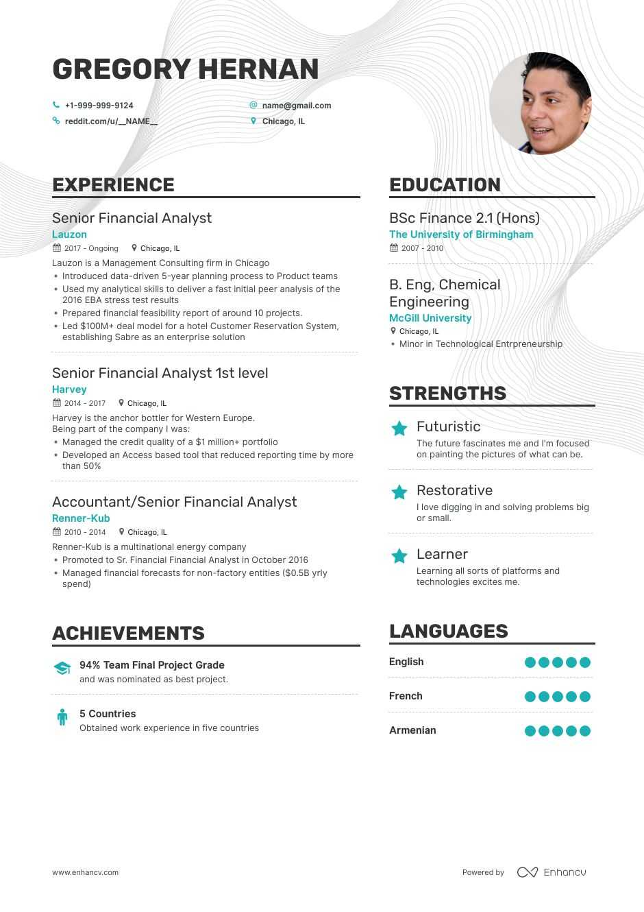 senior financial analyst resume examples pro tips featured enhancv customer service core Resume Financial Analyst Resume Examples