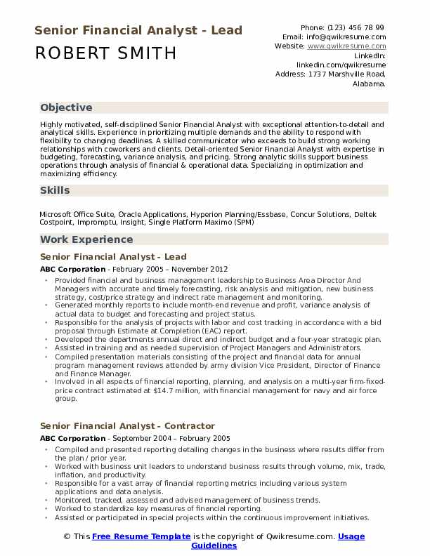 senior financial analyst resume samples qwikresume examples pdf difference between Resume Financial Analyst Resume Examples