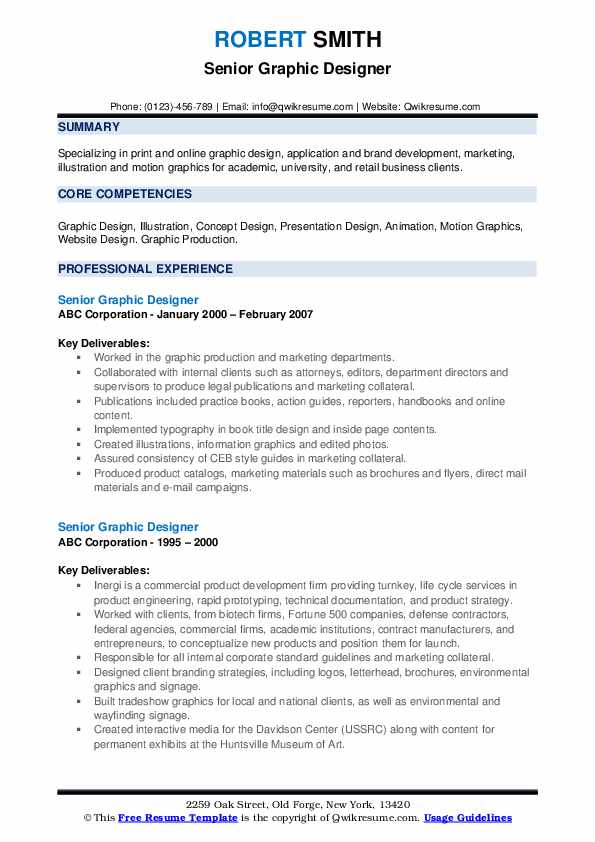 senior graphic designer resume samples qwikresume objective pdf for fresh graduate Resume Designer Resume Objective