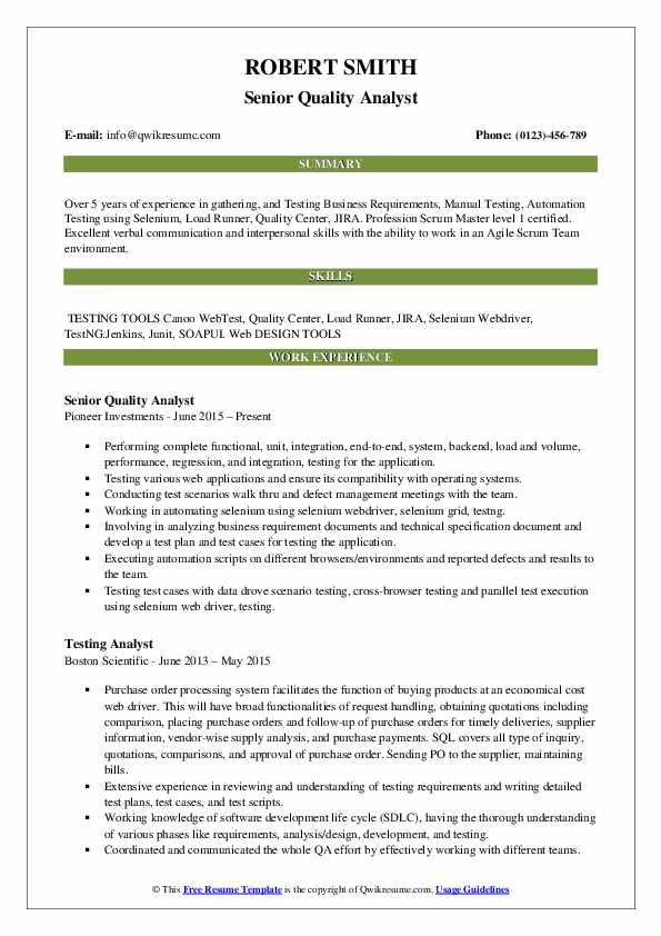 senior quality analyst resume samples qwikresume healthcare pdf accounting examples aux Resume Healthcare Quality Analyst Resume