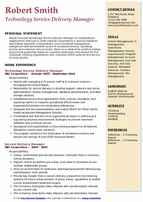 service delivery manager resume samples qwikresume executive pdf entry level customer Resume Service Delivery Executive Resume