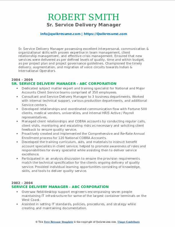 service delivery manager resume samples qwikresume executive pdf write for job free Resume Service Delivery Executive Resume
