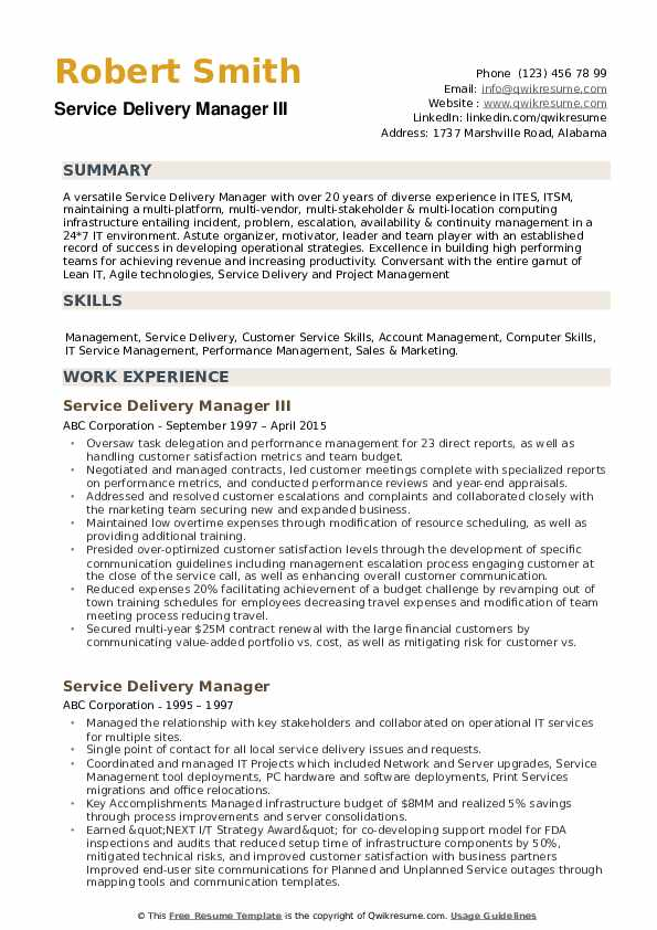 service delivery manager resume samples qwikresume head sample pdf daycare objective Resume Delivery Head Resume Sample