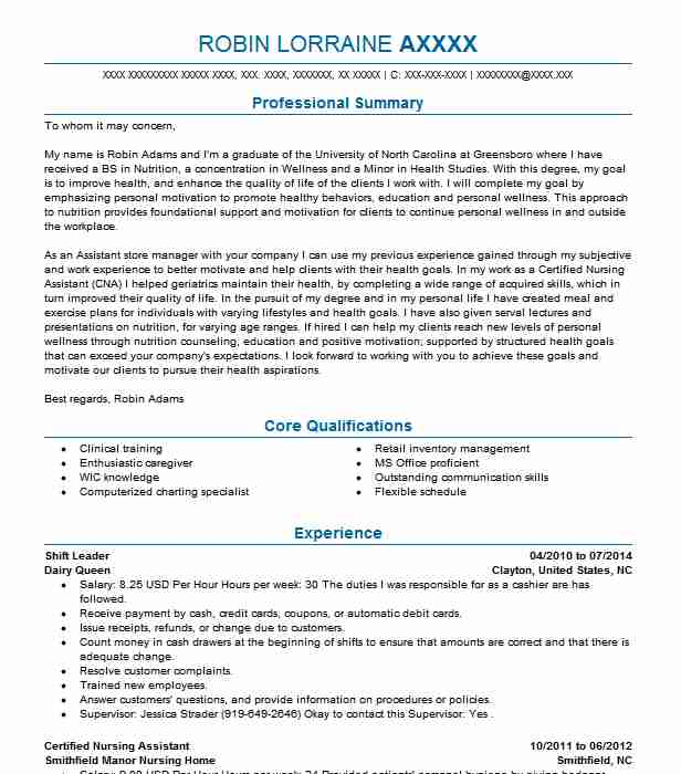 shift leader resume example resumes livecareer retail operations experience aviation Resume Retail Shift Leader Resume