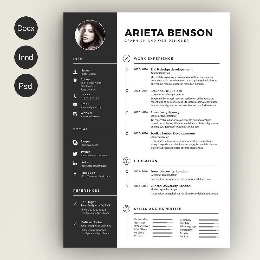 should graphic designer have creative resume marketing templates ruby on rails experience Resume Creative Marketing Resume Templates