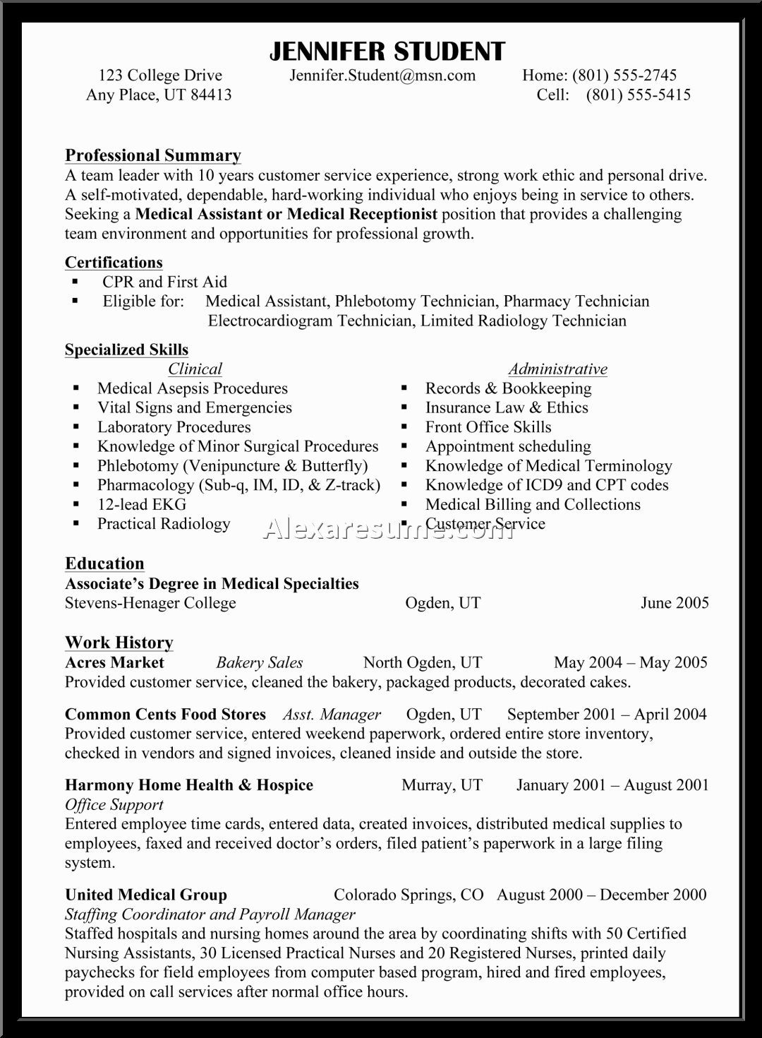 skill based resume sample functional example skills template resumes examples of Resume Resume Specialties Examples