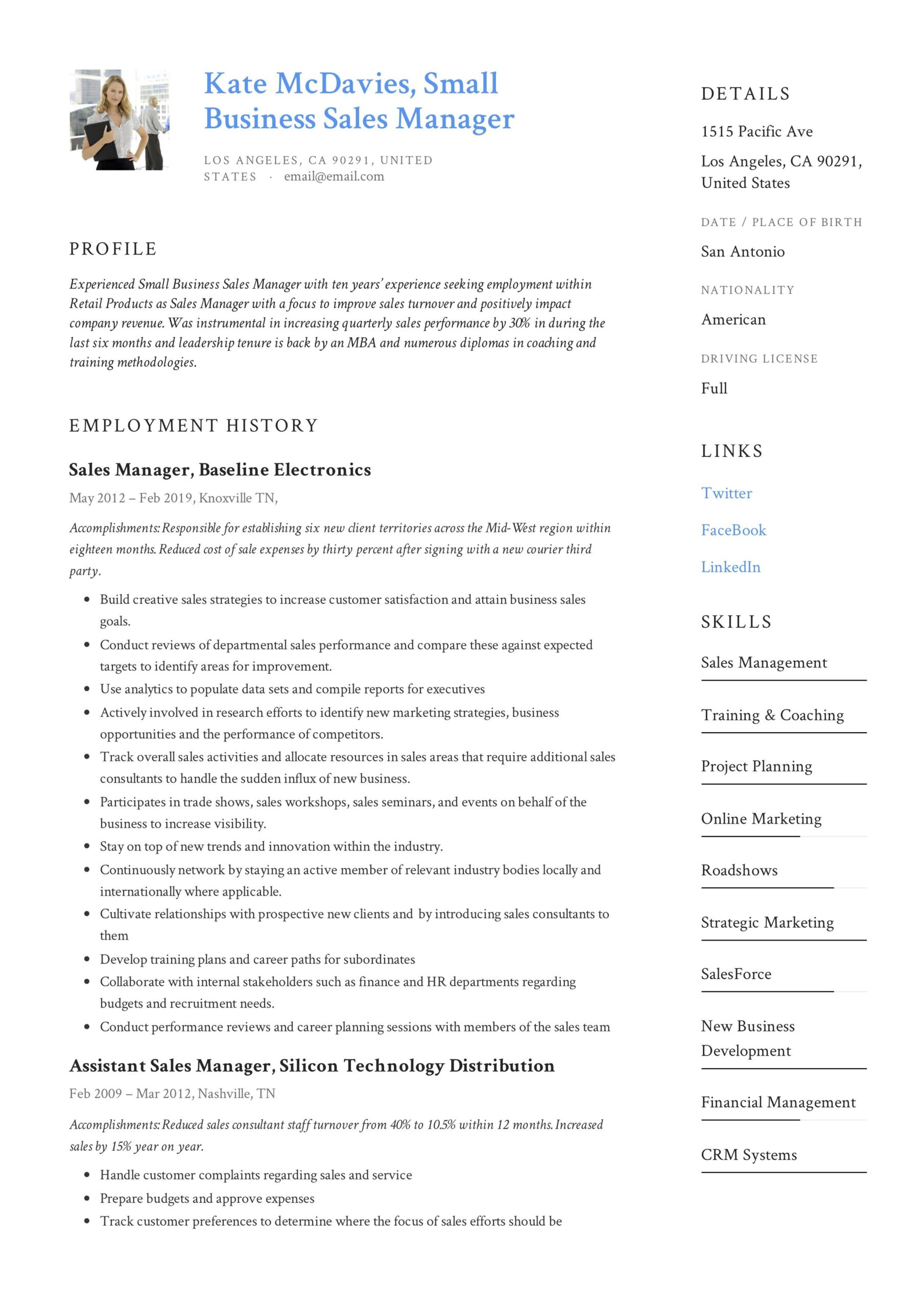 small business manager resume example in examples writing post on monster verbs social Resume Manager Resume Examples 2020