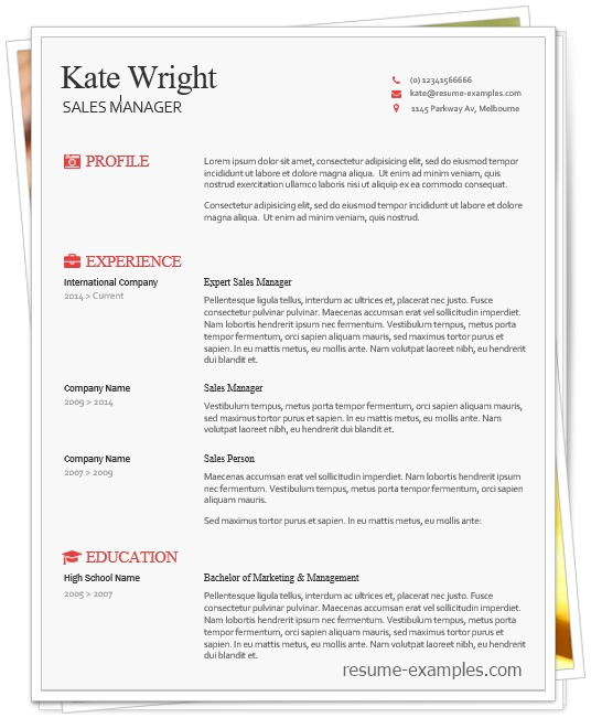 smart freebie word resume template free melbourne personal summary examples guidelines Resume Melbourne Resume Template