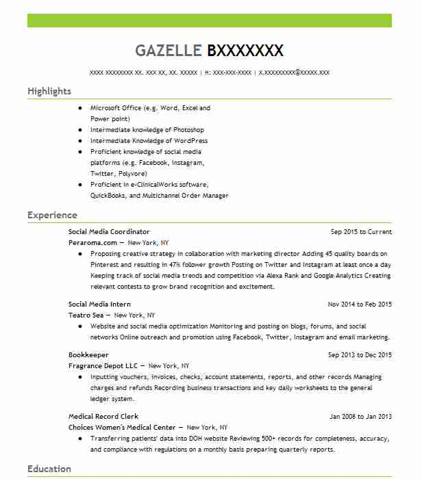 social media coordinator resume example integrated group north kingstown rhode account Resume Social Media Coordinator Resume