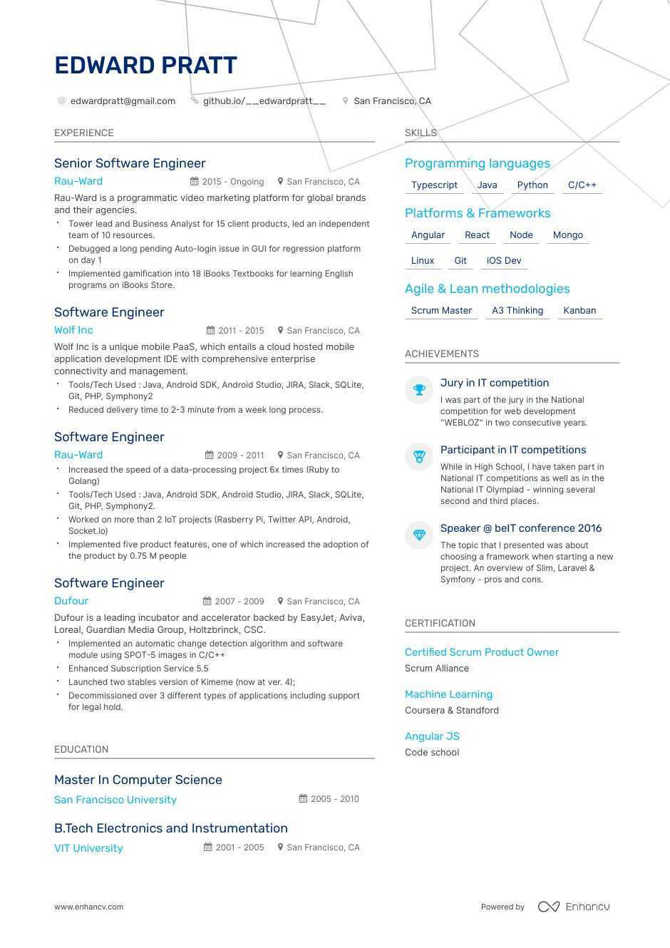 software engineer resume step ultimate guide for enhancv development manager examples Resume Software Development Manager Resume Examples 2020