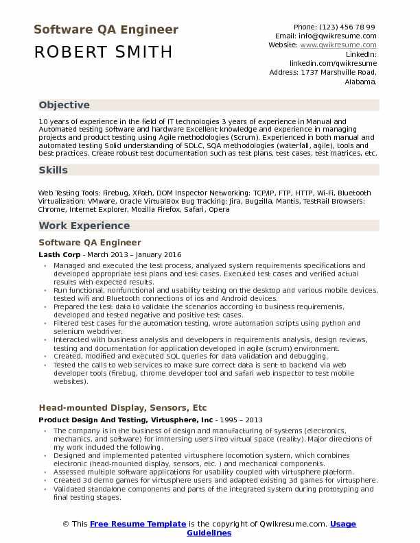 software qa engineer resume samples qwikresume format for test pdf words collaborate Resume Resume Format For Software Test Engineer