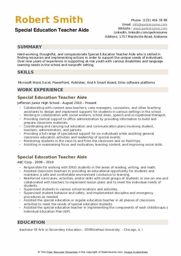 special education teacher aide resume samples qwikresume template for pdf dispatcher Resume Resume Template For Teacher Aide