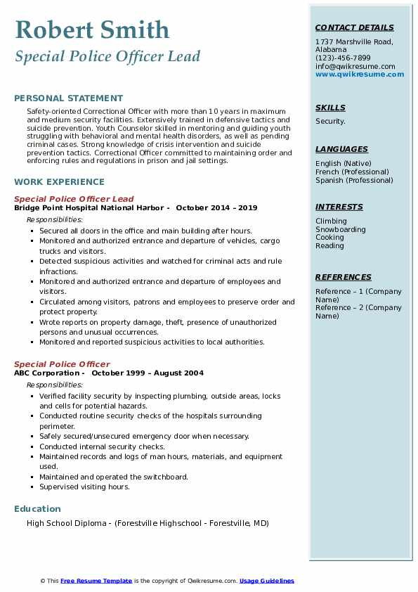 special police officer resume samples qwikresume forces pdf application form for job best Resume Special Forces Officer Resume