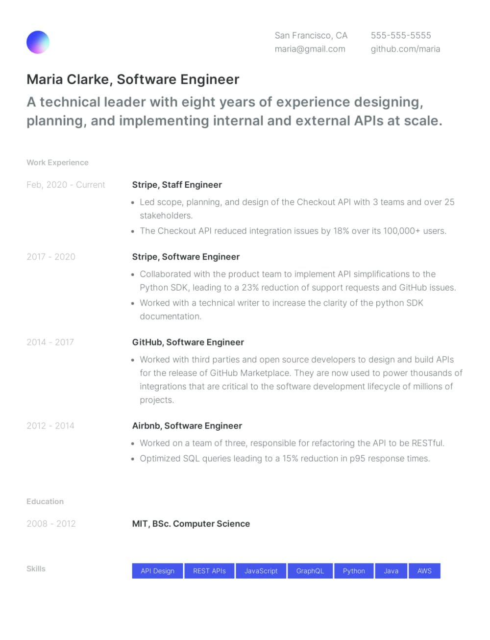 standard resume builder make modern in minutes friendly template security guard summary Resume Mobile Friendly Resume Template