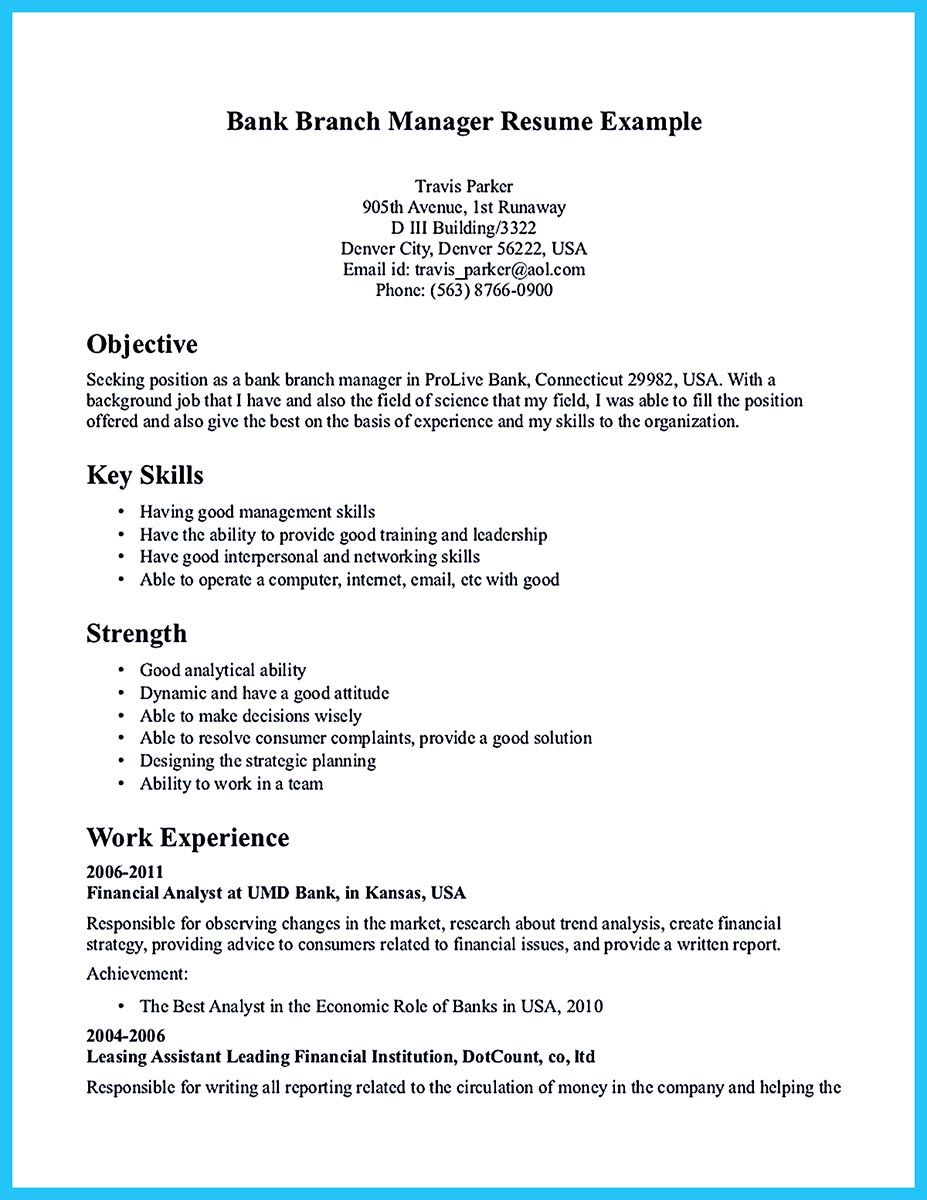 starting successful career from great bank manager resume examples assistant job Resume Assistant Branch Manager Job Description Resume